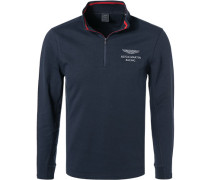 Pullover Troyer, ASTON MARTIN, Baumwolle, navy