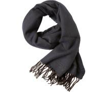 Schal, Wolle, nachtblau- meliert