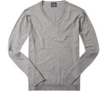 Pullover, Baumwolle-Kaschmir, hell meliert