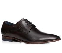 Schuhe Derby, Leder, dunkel