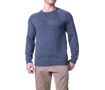 Pullover, Baumwolle, denim meliert