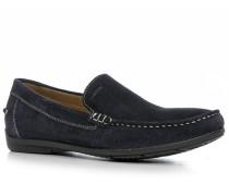 Schuhe Mokassins, Veloursleder, navy