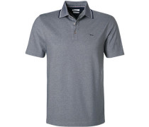 Polo-Shirt, Baumwoll-Piqué, dunkel meliert