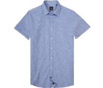 Kurzarmhemd, Modern Fit, Baumwolle,  meliert