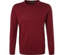 Pullover, Modern Fit, Kaschmir, bordeaux