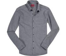 Hemd, Extra Slim Fit, Baumwoll-Pique,  gemustert