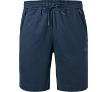 Bermudashorts, Slim Fit, Baumwolle, navy