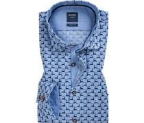 Hemd, Casual Modern Fit, Popeline,  gemustert