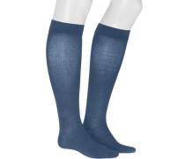 Kniestrümpfe, Baumwolle Stützklasse 3, jeans