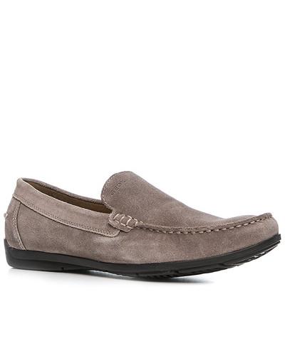 Schuhe Mokassin, Veloursleder, taupe
