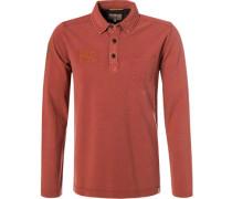 Polo-Shirt, Baumwoll-Piqué, ziegel