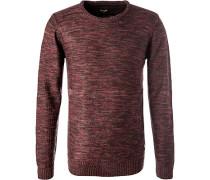 Pullover, Mikrofaser, -pink meliert