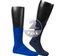 Socken, Baumwolle, -navy