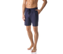 Schlafanzug Pyjamashorts, Mikrofaser, navy