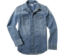 Jeanshemd, Classic Fit, Baumwolle, hell