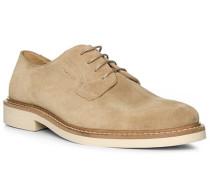 Schuhe Derby, Veloursleder, sand