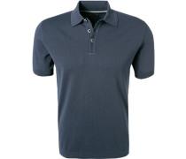 Polo-Shirt, Baumwoll-Strick, nacht