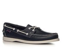 Bootsschuhe, Glattleder, navy