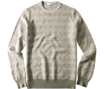 Pullover, Wolle, beige-hell gemustert
