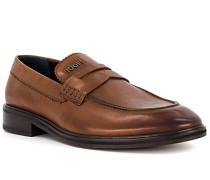 Schuhe Loafer, Leder, cognac
