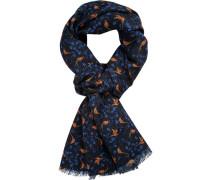 Schal, Wolle, -orange gemustert