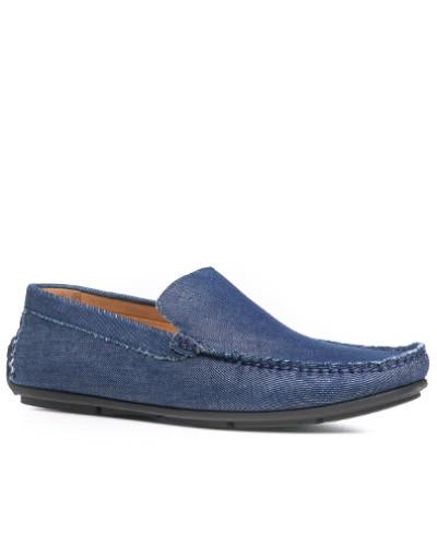 Schuhe Mokassins, Textil, dunkel