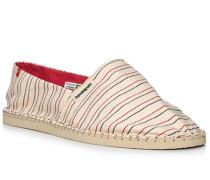 Schuhe Espadrilles, Canvas,  gestreift