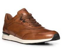 Schuhe Sneaker Ajas, Kalbleder, cognac