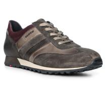 Schuhe Sneaker Agon, Kalbleder, taupe-beere