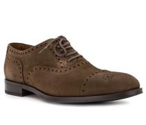 Schuhe Oxford, Veloursleder