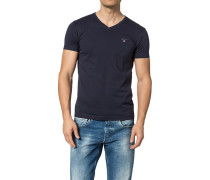 T-Shirt, Slim Fit, Baumwolle, navy