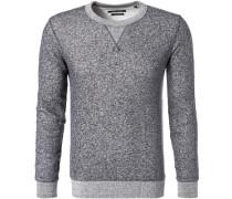 Sweatshirt, Shaped Fit,  meliert