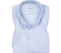 Kurzarmhemd, Regular Fit, Popeline, bleu