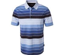 Polo-Shirt, mercerisierte Baumwolle,  gestreift