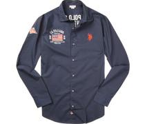 Hemd, Popeline, marine
