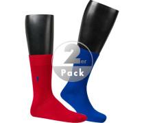 Socken, Baumwolle, rot-