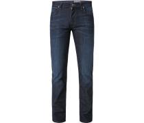 Jeans, Regular Fit, Baumwolle, dunkel