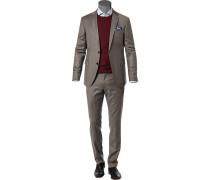 Anzug, Slim Fit, Schurwolle Super120, grau meliert
