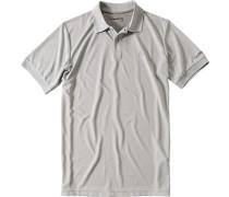 Polo-Shirt, Mikrofaser Coolmax, silber