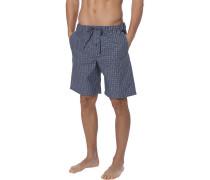 Schlafanzug Pyjamashorts, Baumwolle, grau kariert