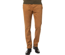 Hose Chino, Modern Fit, Baumwoll-Stretch, messing