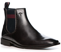 Schuhe Chelsea Boots, Glattleder, testa di moro