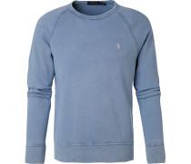 Sweatshirt, Mikrofaser, bleu