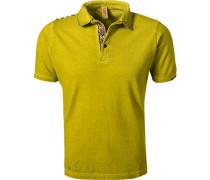 Polo-Shirt, Baumwoll-Piqué, gelb