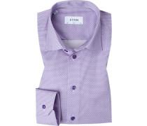 Hemd, Slim Fit, Popeline, violett gemustert