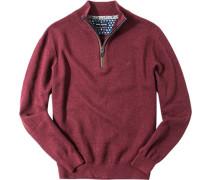 Pullover Troyer, Baumwolle-Schurwolle