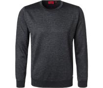 Pullover Schurwolle -silber meliert