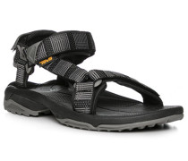 Schuhe Sandalen, Textil, -grau gemustert