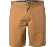 Hose Shorts, Baumwolle, zimt