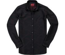 Hemd, Extra Slim Fit, Baumwolle, navy gemustert